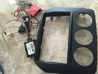 Mazda Miata Mx5 Double din kit with harness and Steering control