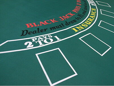 Blackjack Tuch Grün 90x180cm Rubber | 1976