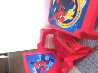 BOYS SPIDER MAN TABLE AND CHAIR FOR ONLY 15