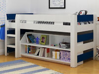Single Bed Frame with Book Shelf (Used).