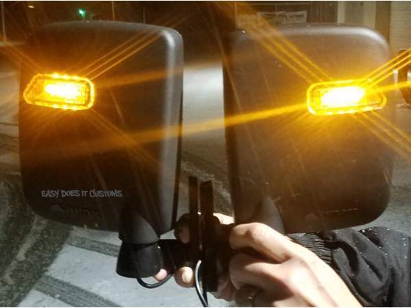 Golf Cart Side Mirror Set with LED Running Light for your EZGO, Yamaha, Club Car