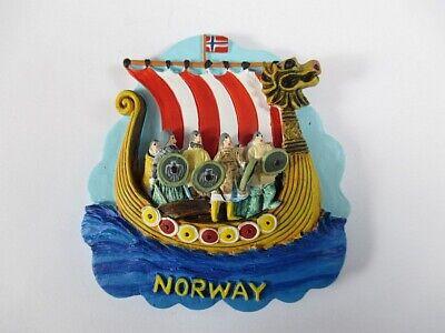 Norway Viking Ship Poly Magnet, Norway Scandinavia, New