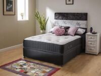 Double or Kingsize 1000 pocket sprung and memory foam bed complete