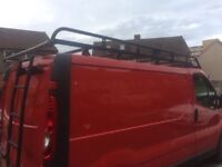 Rhino roof rack and ladder vivaro traffic primestar
