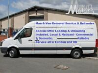 Man and Van Removal Service £20 per hour all in London and UK