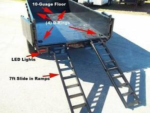 7X14 DUMP TRAILER FOR RENT OR HIRE same day service Calgary Alberta image 2
