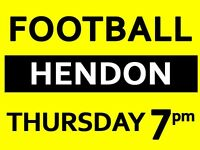 Need 3 players for friendly football game this Thursday 7pm at Hendon, Colindale