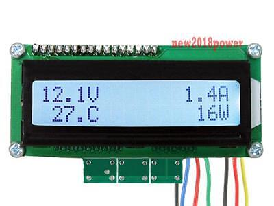 Battery Monitor Dc 99v200a Lcd Digital Panel Amp Volt Powertemperature Meter