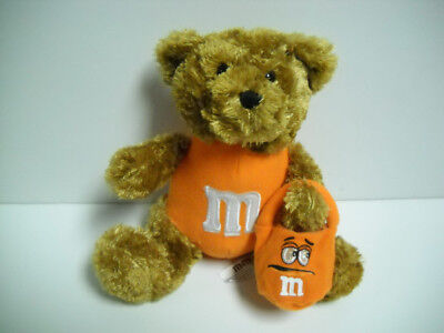 M&M Galerie Orange Halloween Bear Plush W/ Light Up Pumpkin Treat Bag Rare VHTF ](Halloween M&m Treats)
