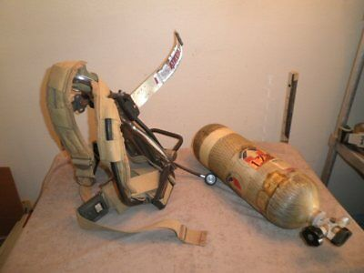 Survivair Scba 45-minute Air Tank 4500psi Wbackpack Harness For Paintball Fire