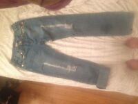 True religion size 27 ripped jeans