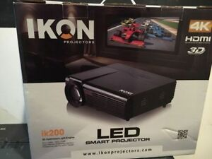 Projector IKON IK-200 4K 3D  great replacement for a HDTV