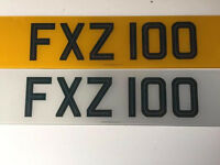 Cherished number FXZ 100