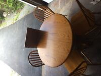 Oak table & chairs set for sale