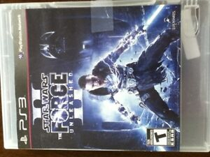 Star Wars II The Force Unleashed for PS3 Kingston Kingston Area image 1