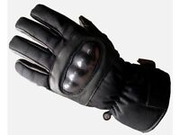 Combines Leather and Textile Motorcycle Motorbike Thermal Thinsulate HIPORA Waterproof Gloves