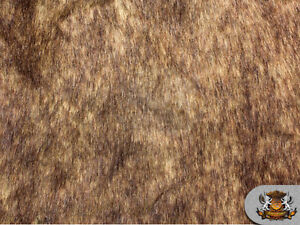 Faux Fur Long Pile GRIZZLY BEAR BROWN Fabric / 62