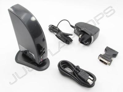New Lenovo USB 2.0 Port Replicator with Digital Video Inc AC Adapter UK Plug