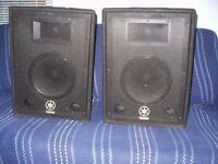 """Yamaha AX10 10"""" Trapezoidal PA Speakers"""