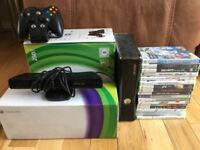 X Box 360, Kinect & 17 games £80 ONO