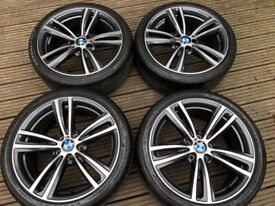 "Genuine BMW 3 4 Series 19"" 442 M Sport Alloy Wheels & Tyres F30 F31 F32 F33 F34 F36 E90 E92 Z4 DC"