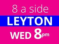 8 a side football every Wednesday in Leyton, players needed.
