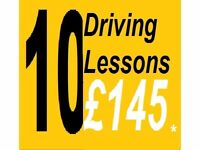 10 for £145* DRIVING SCHOOL LESSONS with INSTRUCTOR