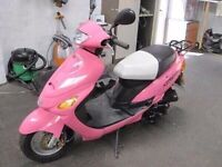49cc bright pink bike only 280 miles from new