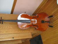 4/4 Full Size Solid Wood Cello