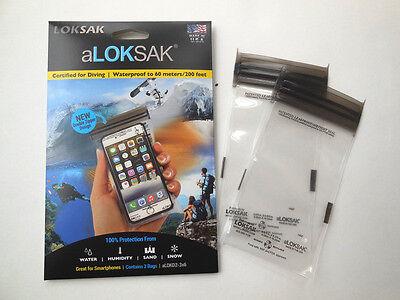 Aloksak Waterproof Bags - 2 Aloksak 3 x 6 New Double Zipper Waterproof Airtight Pouch Bags LOKSAK