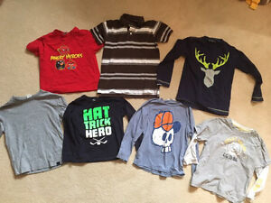 Size 6 boys shirts/sweaters - 9 items
