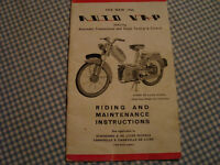 Auto Vap, The new 1960, Riding and Maintenance Instructions, 12 pages, Scootamatic, incl Caravelle