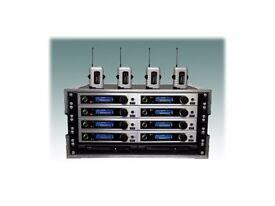 TRANTEC radio mic rack 8 way s5