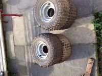 Quad wheels for sale 50 cc don't know what they are off