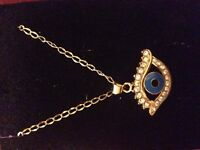 Evil eye necklace/ collier oeil