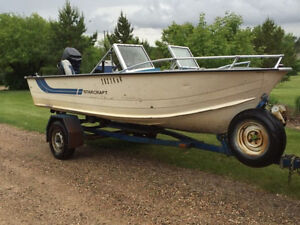 '16 Starcraft boat, trailer with 90 hp Mercury Outboard motor