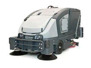 Sweeper for warehouse and parking lot cleaning
