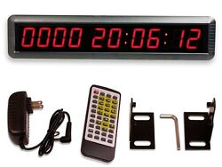 Event Timer Countdown Digital Wall Mounted LED Clock Remote Control Large Mount