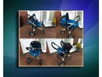 TRAVEL SYSTEM QUINNY BUZZ SHINY BLUE 3-IN-1