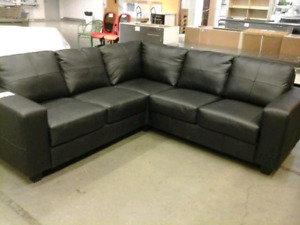 Ikea NEW Full-Grain Leather Sectional/ Canapé d'angle en cuir