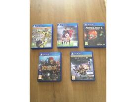 5 still working PS4 discs/games