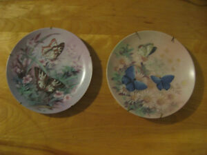 Bradex ( Lena Liu ) Hand Painted Fine China Plates / Butterflies West Island Greater Montréal image 3