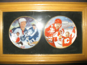 Darryl Sittler and Lanny McDonald Mini Collector plates framed