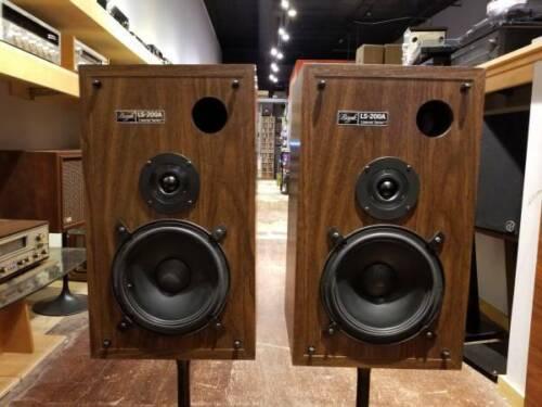 Vintage Bozak LS-200A Speakers w/ Grilles & Boxes