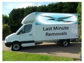 LAST MINUTE REMOVALS MAN AND VAN LARGE Luton VAN WITH TAILIFT CALL 24/7