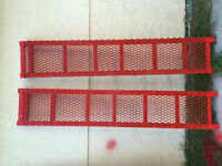 bright red one of a kind heavy duty steel ramps