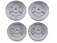 """Weights Plates Vinyl 5kg - 10kg Training Weights 1"""" Fitting Weight Lifting Plates: NEW"""