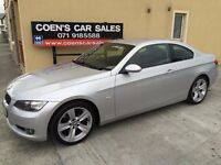 2007 BMW 325i Coupe Auto Full Service History Low Miles 81K Miles MOT Full Leather Alloys Silver