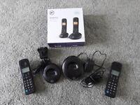 BT basic twin handset telephone set