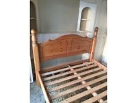 Solid wood double bed - collection Derby